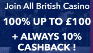 10% Cashback Is Offered as Part of The Welcome Package