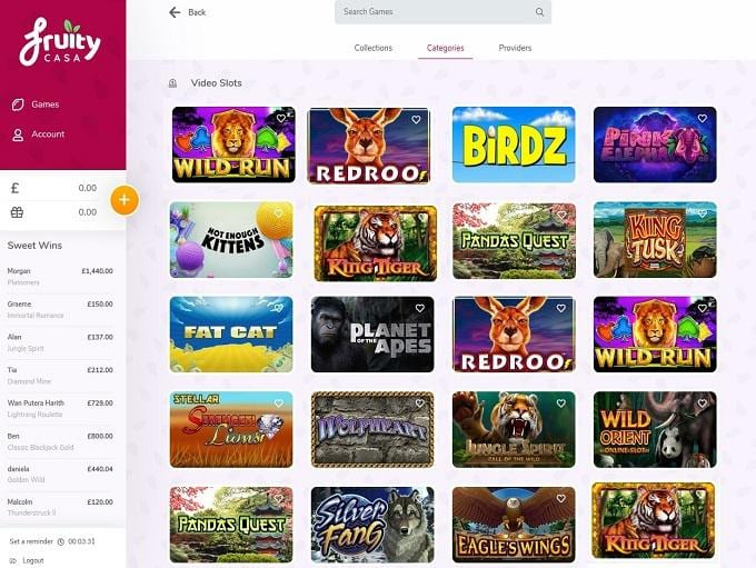 Huge Choice of Online Slots at Fruity Casa