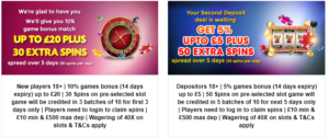 Exciting Choice of Welcome Bonus Packages