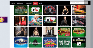 A Variety of Blackjack and Live Roulette Games