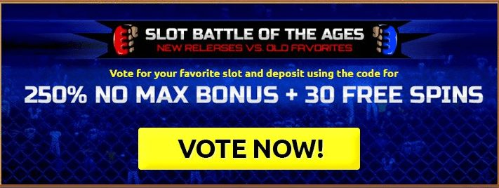 250% Battle of the Ages Casino Bonus