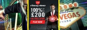 £200/100% Welcome Deal At Vegas Hero Casino