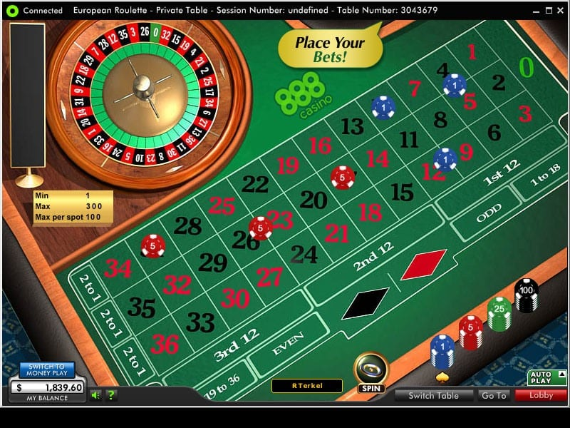 Online Roulette UK Games at 888 Casino