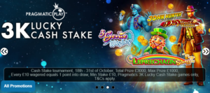 3K Lucky Cash Stake at Vegas Baby Casino