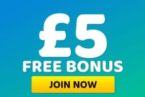 A Fantastic Offer of £5 Free on Sign Up