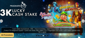3K Lucky Cash Stake at Jackpot Mobile Casino