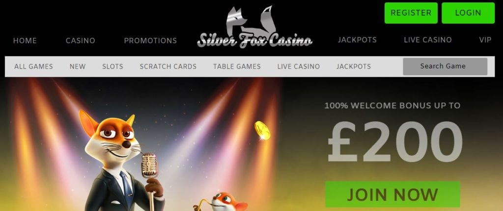 Silver Fox Casino Offer a Sleek and Professional Homepage