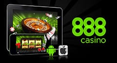 888 Casino Online Mobile and Android User Interface