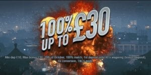 An Enticing Welcome Bonus of 100% Up to £30
