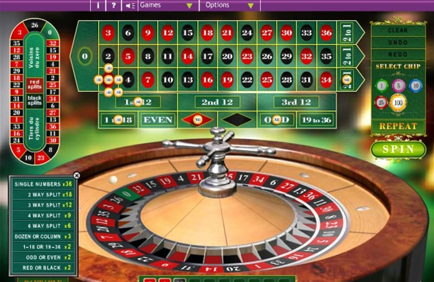 Bet At Casino Online European Roulette Table