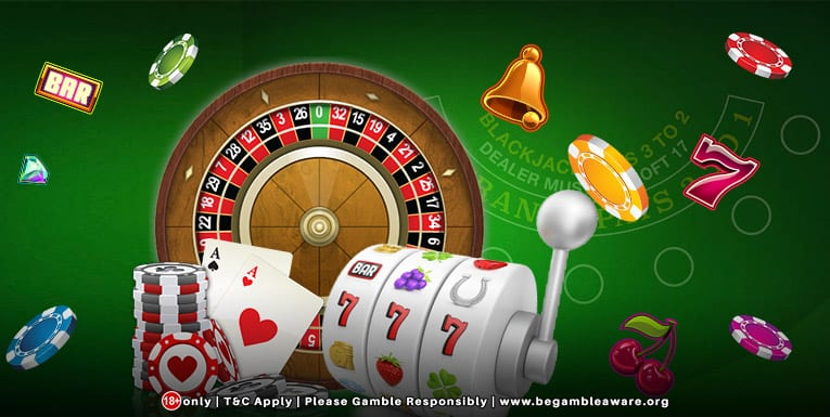 Try your lucky with Slot games, table games and live casino games