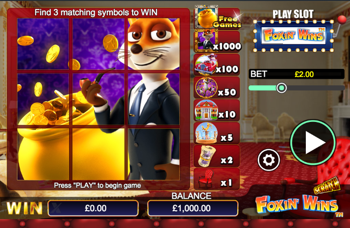 Foxin Wins Scratch Cards are Ready to Play Online