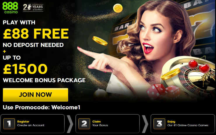 Receive Your 888 No Deposit Bonus Today! Terms and Conditions Apply