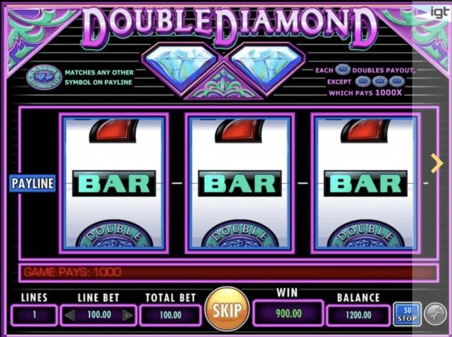 Double Diamond with Multiple Pay-lines for Big Payouts
