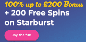 Get 200 Free Bonus Spins at Casino Joy