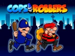 The Colourful Classic Cops 'n' Robbers Slot Game Logo