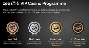 Playzee Offer a Unique VIP Club Using Zee Points