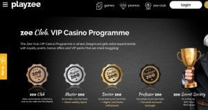 PlayZee Casino Club VIP Lounge
