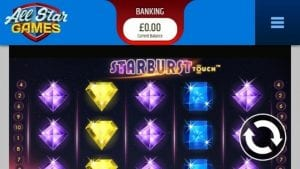All Star Games Casino Online - Play Starburst UK