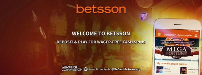 Welcome to Betsson Casino Official Logo Banner