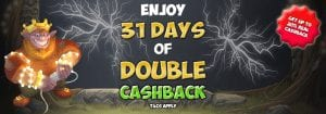 Get 31 Days of Cashback at Fairground Slots Casino