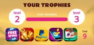 Earn Trophies to Unlock More Spins