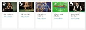 Live Casino Options Are Readily Available at Spin Casino