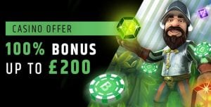 100% Welcome Bonus Offer up to £200 at Fansbet Casino