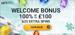 Welcome Bonus Offer Online at Gate 777 Casino