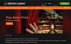 Online Games Lobby Screenshot of Kroon Casino