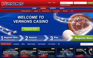Welcome to Vernons Casino Gaming Lobby
