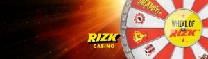 Rizk Casino Official Wheel Promotional Banner