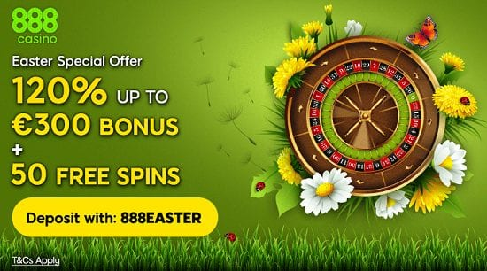 Easter Time Special Offer at 888 Casino