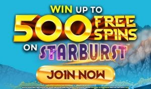Win Up to 500 Free Spins