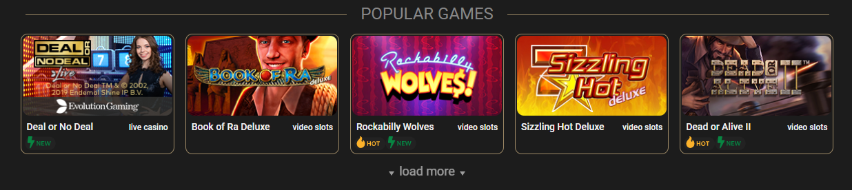 Some of The Most Popular Games at CasinoCasino