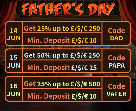 Fathers Day Promotional Offers