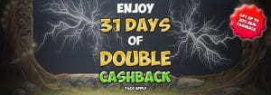 31 Days Cashback Promotion at Space Wins Casino