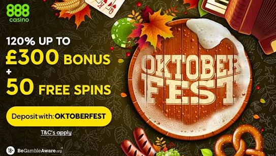 Oktoberfest Bonus at 888 Casino