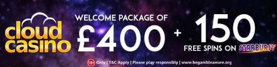 Cloud Casino Welcome Package