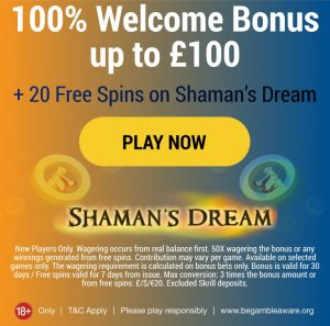 100% Welcome Bonus Up to £100 at Hippozino Casino