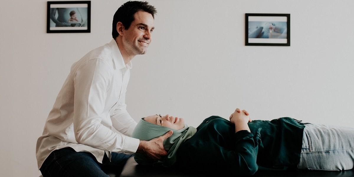 Nicolas Grimaldi is treating a patient