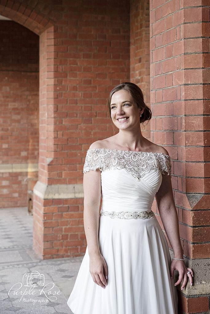 Bridal portrait at Bedford School 4