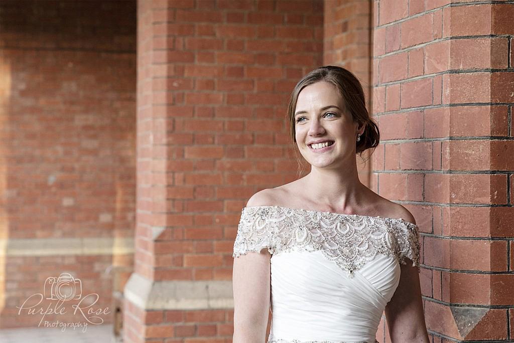Bridal portrait at Bedford School 3