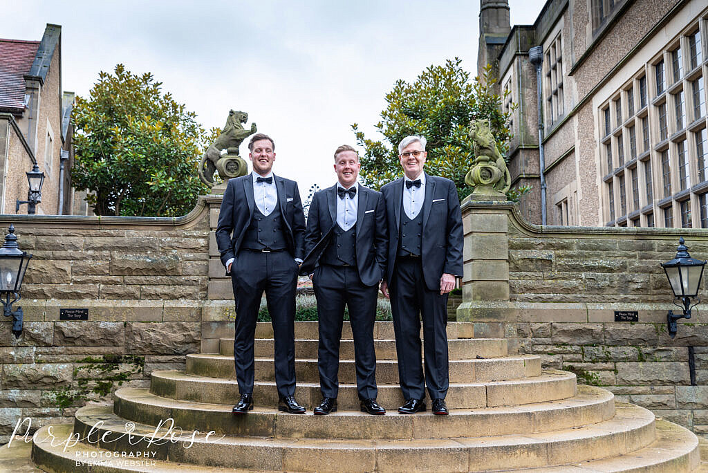 Groom with his best man and dad