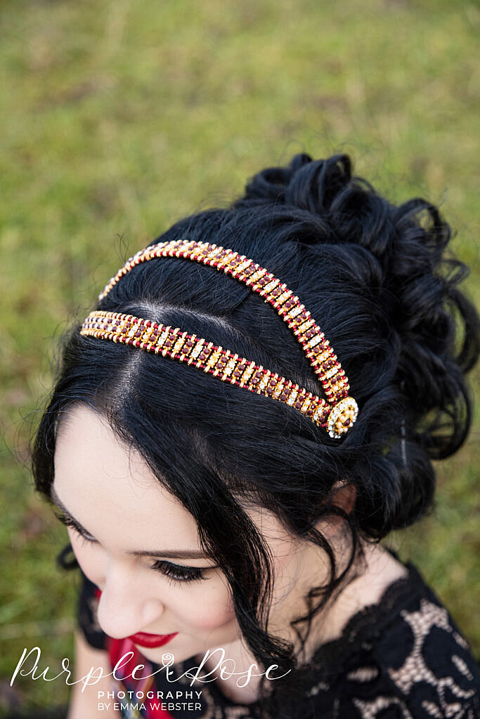 Detail photo of bride head band