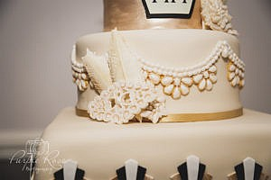 Details of a wedding cake