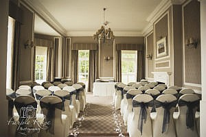 Photo of wedding ceremony room