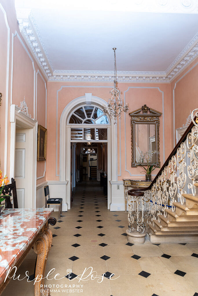 Hallway in Kelmarsh Hall Northampton