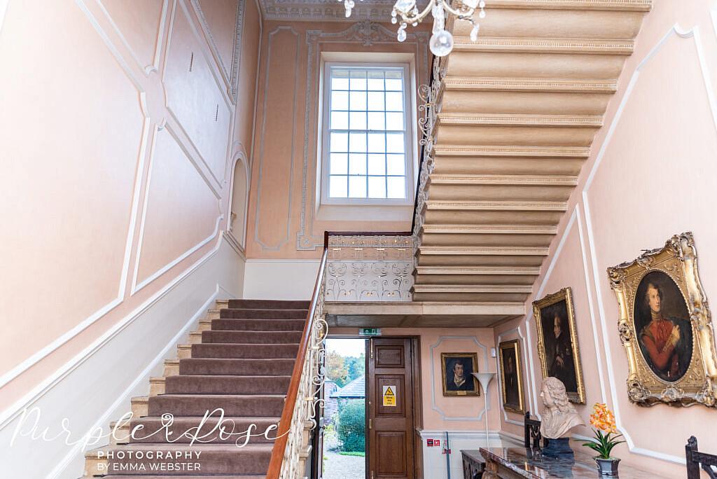 Stunning staircase at Kelmarsh Hall Northampton