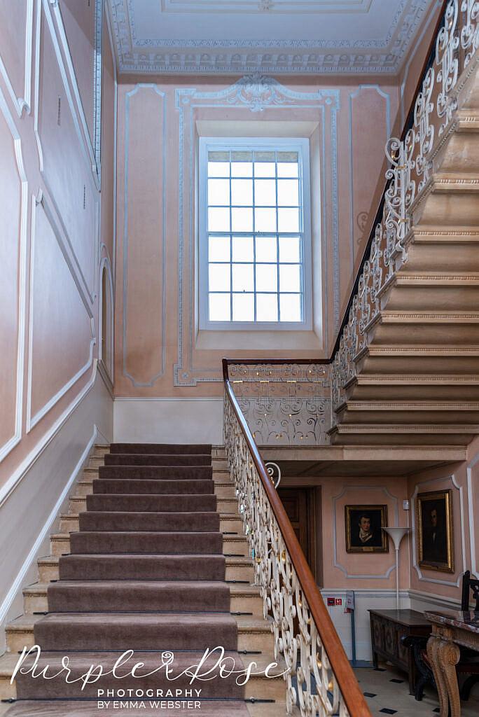 Stairway In kelmarsh Hall Northampton